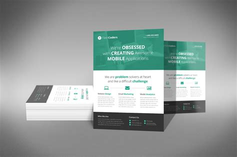 free flat design templates a professional and free flat design corporate flyer psd