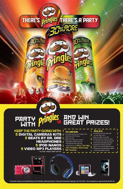 Competitions Giveaways - party with pringles and win great prizes jta supermarkets ltd c3 centre carlton