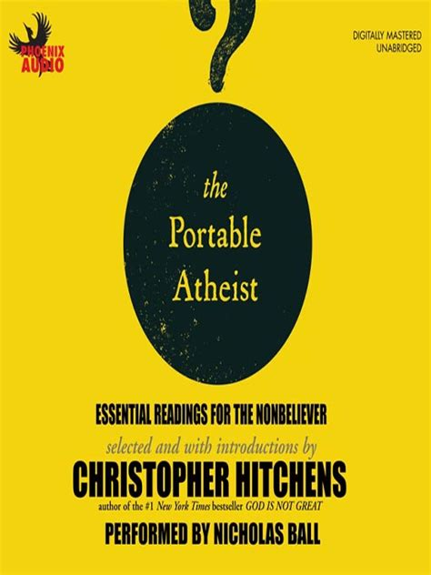 the portable atheist essential readings from amazon newly the portable atheist toronto public library overdrive