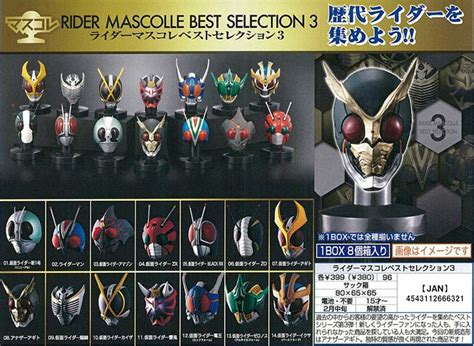 Rider Mask Collection Rmc Vol 9 Kamen Rider Faiz Axel feeling lucky some of the masks can light up