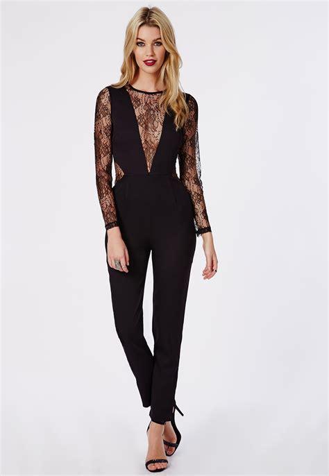 Place Jumpsuit how to wear black lace jumpsuit careyfashion