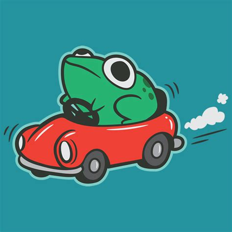 in car frog in a car t shirt the worley gig
