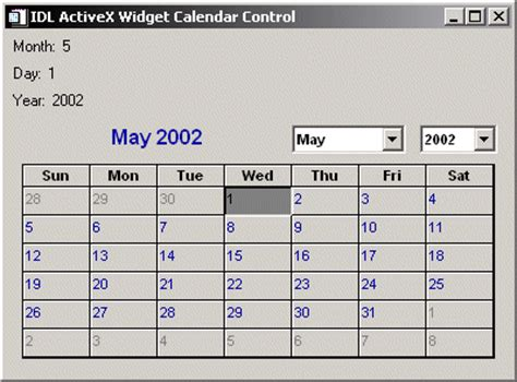 Dartmouth Term Calendar Activex Calendar