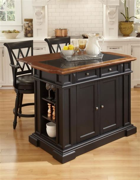 Bar Stool For Kitchen Island Classic Kitchen Area With Wooden Black Painted Kitchen Island Set Wooden High Bar Stool Black