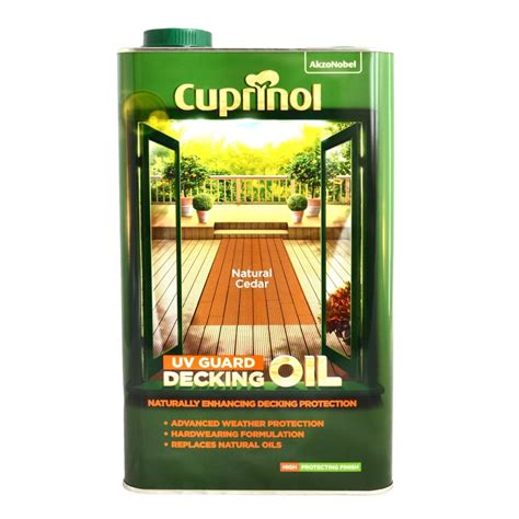 cuprinol uv guard decking oil natural cedar