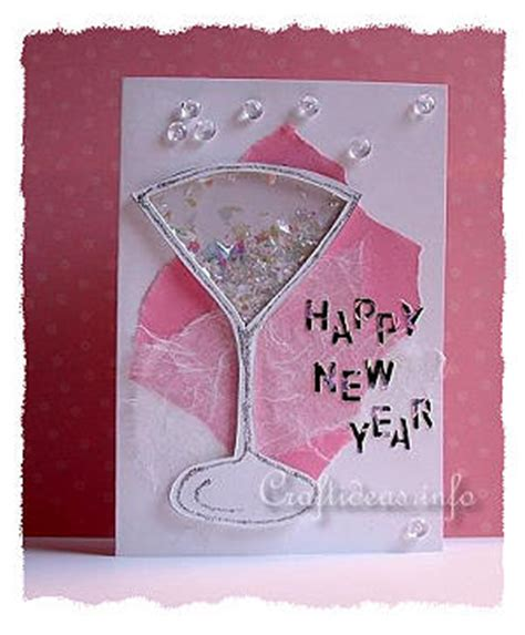 new year cards craft craft a new year s greeting card or invitation shaker