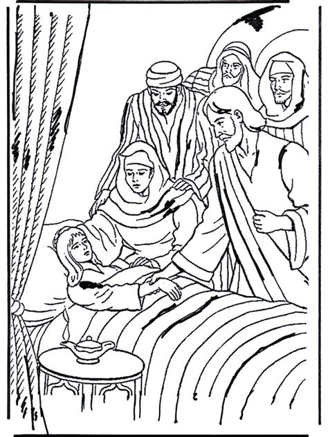 coloring page jesus heals jairus daughter 20 best images about jesus heals jairus daughter on