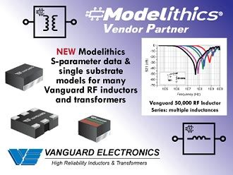 modelithics 174 adds new s parameter models for vanguard electronics inductors and transformers