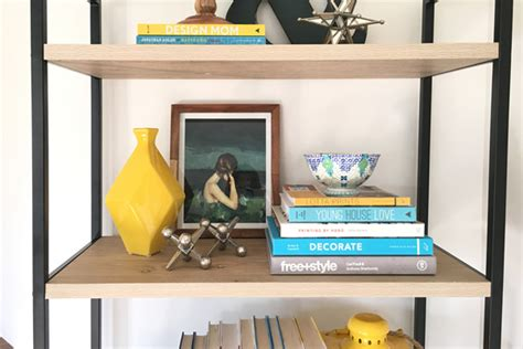 the basics of bookshelf styling school of decorating by