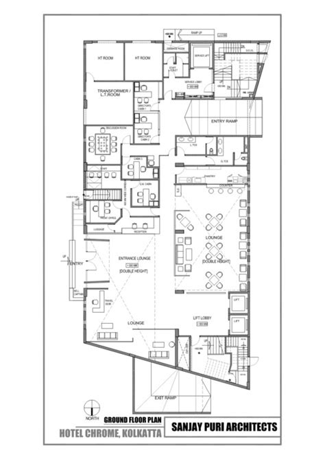 floor plans of hotels chrome hotel sanjay puri architects archdaily
