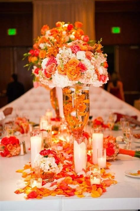 wedding stuff ideas orange wedding decoration