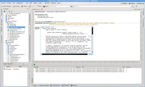 Cmake Documentation context sensitive cmake documentation kdevelop
