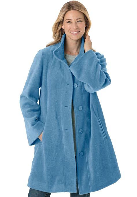 plus swing coat jacket swing style in cozy fleece plus size all coats