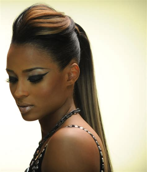 hair pony tail for african hair ciara ponytail hairstyles celebrity hair on pinterest