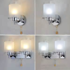 modern indoor wall lights modern silver chrome white glass indoor wall light l