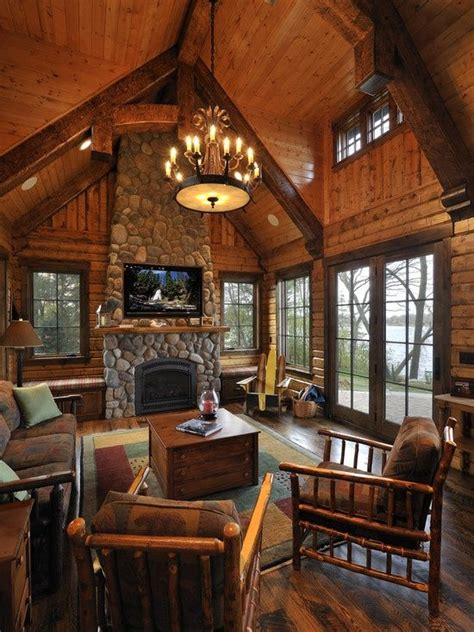 log cabin living room pictures to pin on pinterest pinsdaddy log cabin living favorite places spaces pinterest