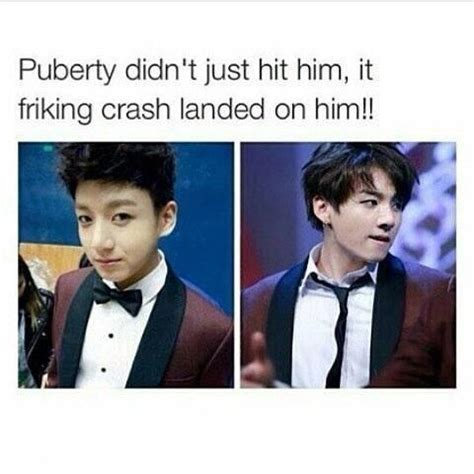 me a truck can puberty hit me like how it hit jungkook army s amino