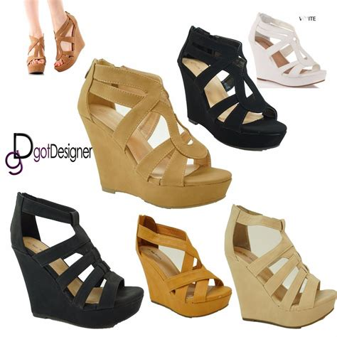 shoes size 5 s fashion open toe wedges strappy platform sandals