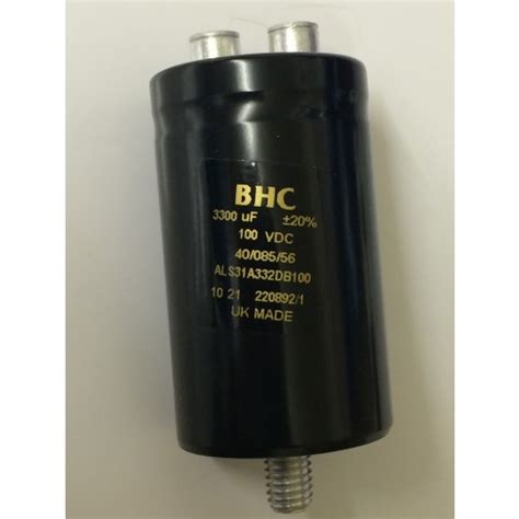 bhc capacitor 3300uf 100v kemet bhc als31a332db100 best quality