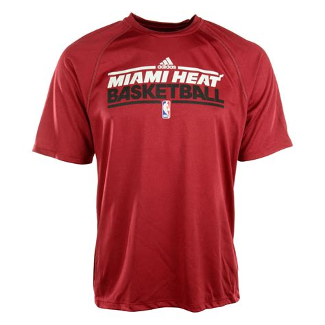 T Shirt Adidas Miami adidas mens shortsleeve miami heat climalite tshirt in