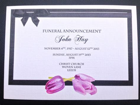 funeral announcement cards templates funeral invitation templates 14 free psd vector eps