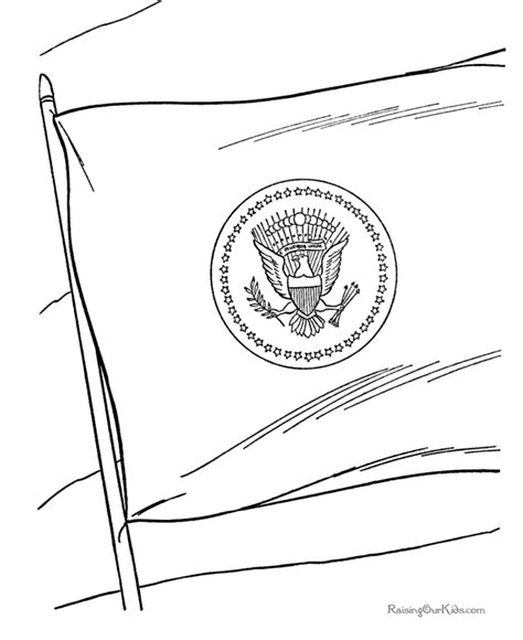 patriotic flag coloring page 024