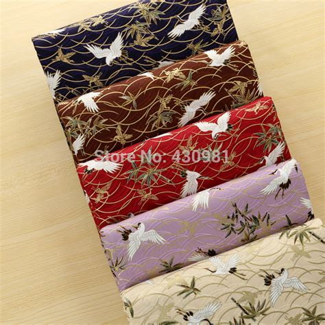 Japanese Patchwork Fabric - cranes print patchwork cotton fabric japanese style cotton