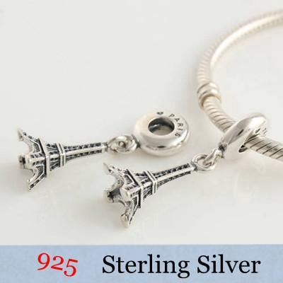 Pandora Eiffel Tower Bead Thread Charm P 560 free shipping authentic 925 sterling silver thread charm bead fits european style bracelet snake