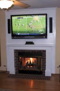 furniture white mounting tv fireplace hiding wires