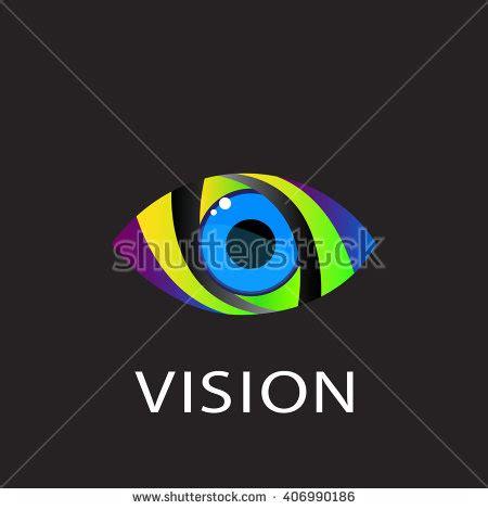 design vision eye logo design vector template colorful stock vector