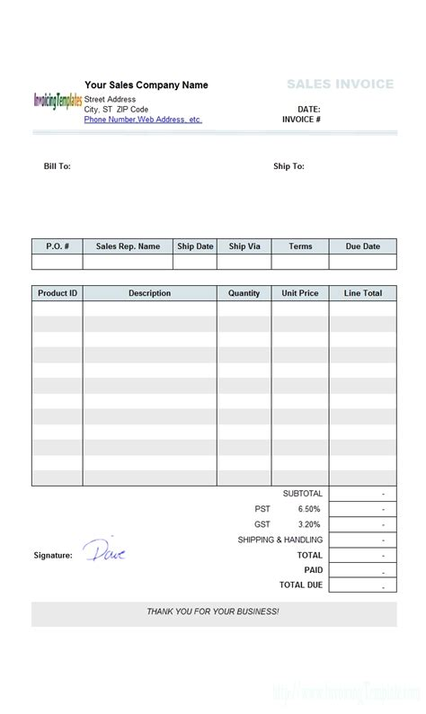 make your own invoices invoice template ideas