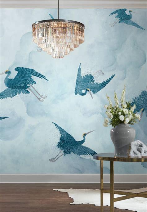 idyllic blue entryway design  phillip jeffries flight