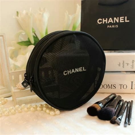Cosmetic Pouch Rounded Tempas Kosmetik chanel accessories authentic chanel mesh cosmetic bag poshmark