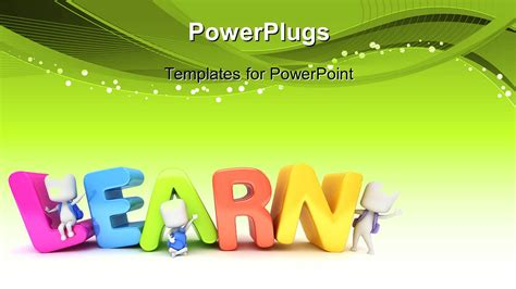 powerpoint themes youth powerpoint template kids posing with the word learn 18854