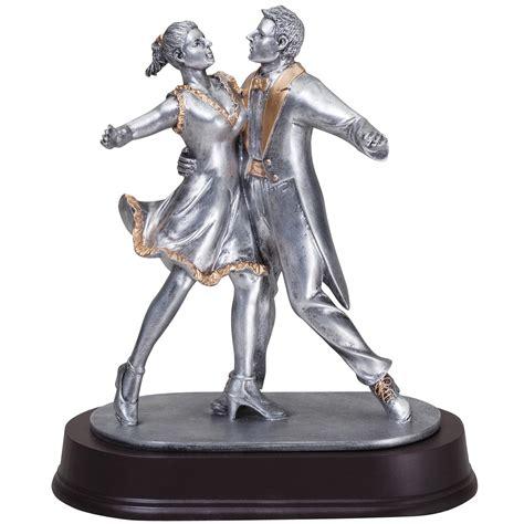 star couple ballroom dancing statuette award