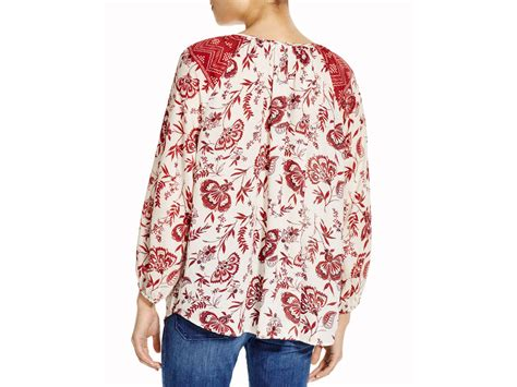 lyst lunch lounge arianna floral print peasant top 100 bloomingdale s exclusive in