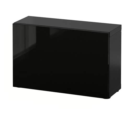 besta 60x20x38 besta selsviken shelving unit black brown high gloss black