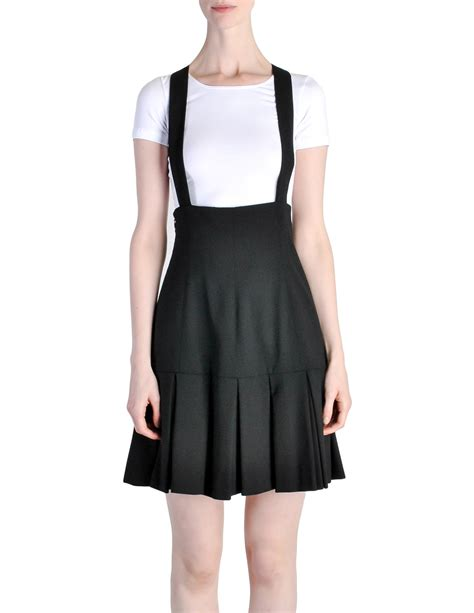 karl lagerfeld vintage black pleated suspender skirt