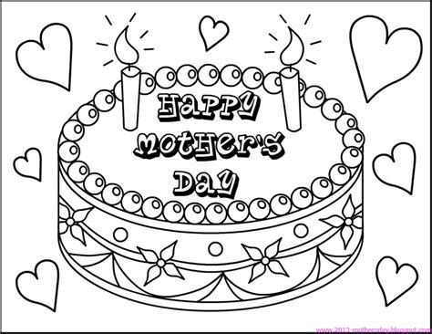 mothers day coloring page day coloring pages to and print for free