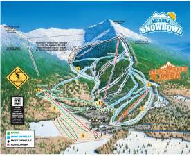 arizona snowbowl trail map stg arizona snowbowl
