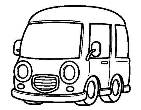 coloring page of a van classic van coloring page coloringcrew com