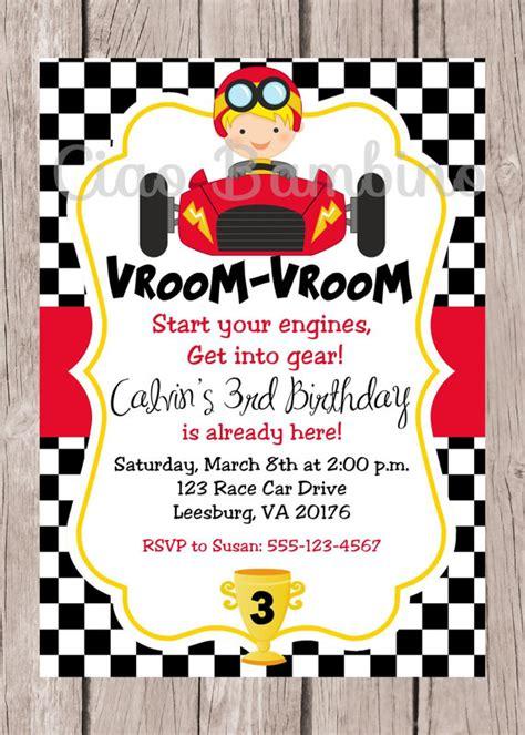free printable birthday invitations race cars printable race car birthday party invitation