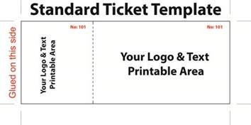 admission ticket template standard admission ticket template with logo and text area