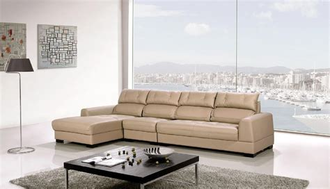 tan sectional couch dorian genuine light tan leather modern sectional set