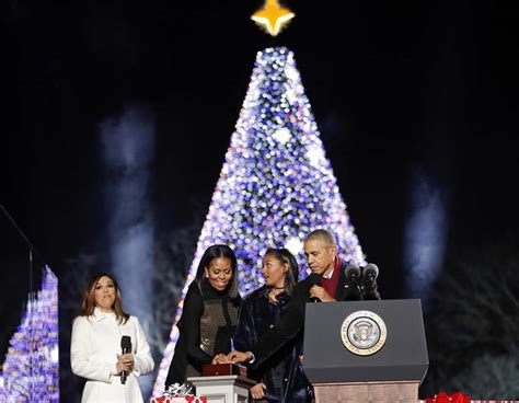 obama lights national christmas tree for final time the