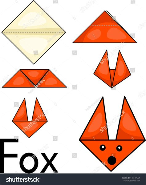 Origami Illustrator - illustrator origami fox stock vector 148137554