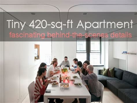 How To Decorate A Small Home by Huge Multi Functional Living Potential In A Tiny 420 Sq Ft