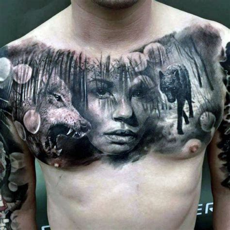50 realistic wolf tattoo designs for men canine ink ideas
