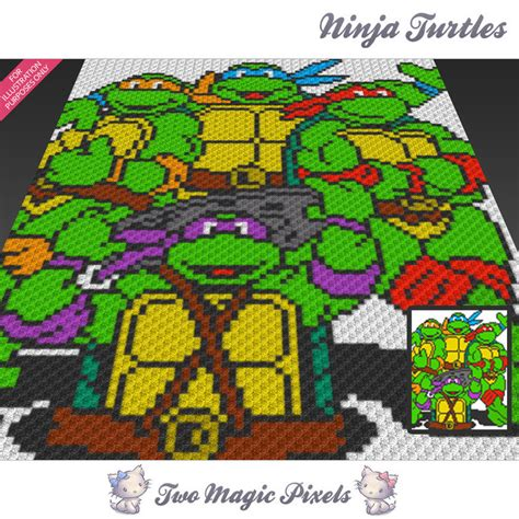 crochet pattern ninja turtle blanket ninja turtles inspired crochet blanket twomagicpixels