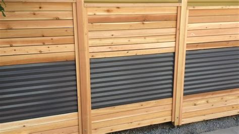 and fence roofing corrugated metal and wood fence wood ideas